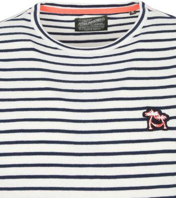 Petrol Sweater Stripes Dark Blue