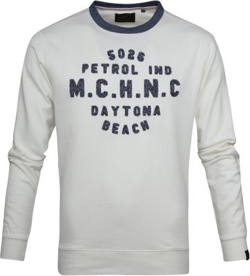 Petrol Sweater White