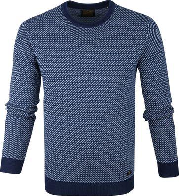 Petrol Sweater Zeile Blau