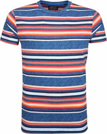 Petrol T-shirt Colorful Stripes