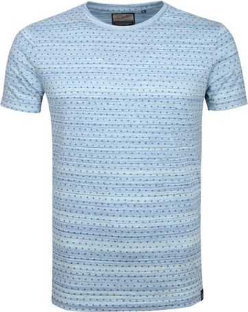 Petrol T-shirt Dessin Blau