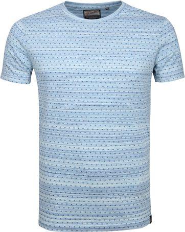 Petrol T-shirt Dessin Blue