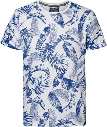 Petrol T Shirt Flower Blue