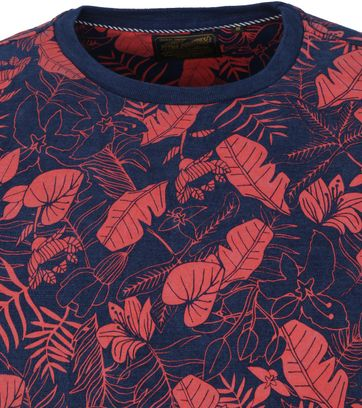 Petrol T Shirt Flower Red