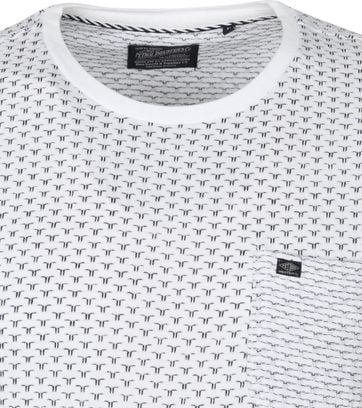 Petrol T Shirt Pattern White