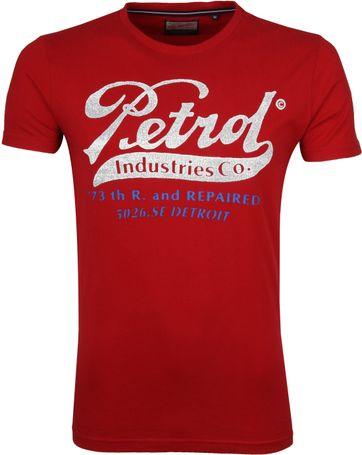Petrol T-shirt Rood