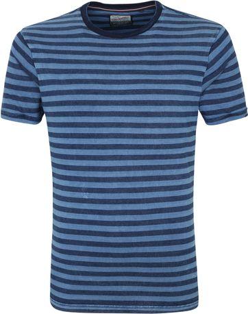Petrol T Shirt Streifen Blau