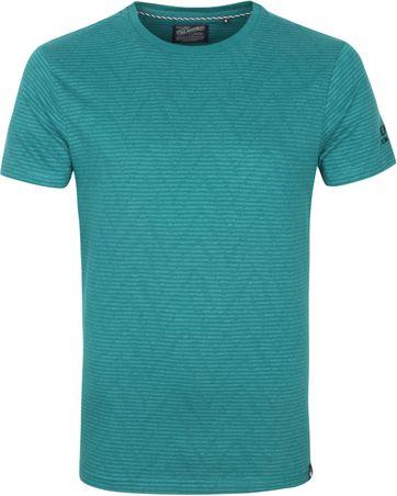 Petrol T Shirt Streifen Grun