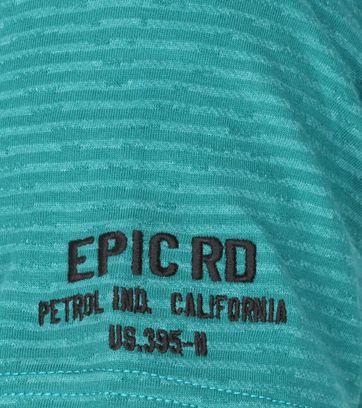 Petrol T-Shirt Strepen Groen - Groen maat 3XL