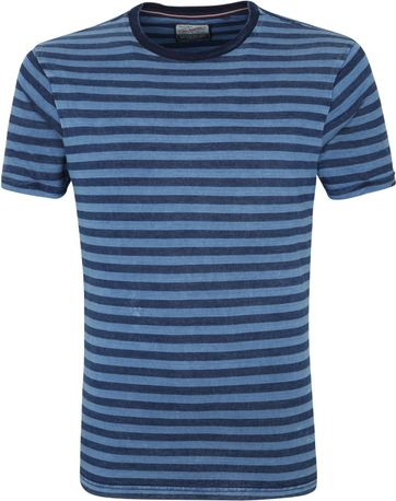 Petrol T Shirt Stripes Blue