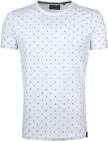 Petrol T-shirt Weiß Punkte