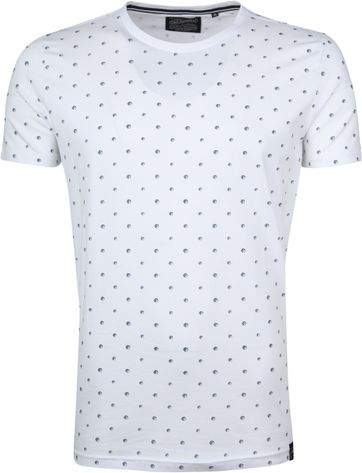 Petrol T-shirt White Dots