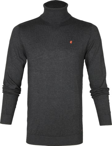 Petrol Turtleneck Pullover Dark Grey