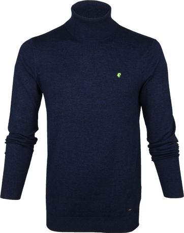 Petrol Turtleneck Pullover Navy