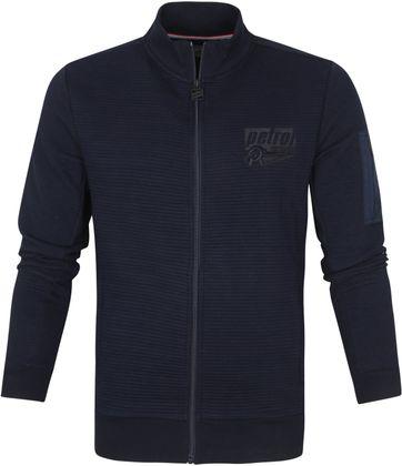 Petrol Vest Collar Donkerblauw