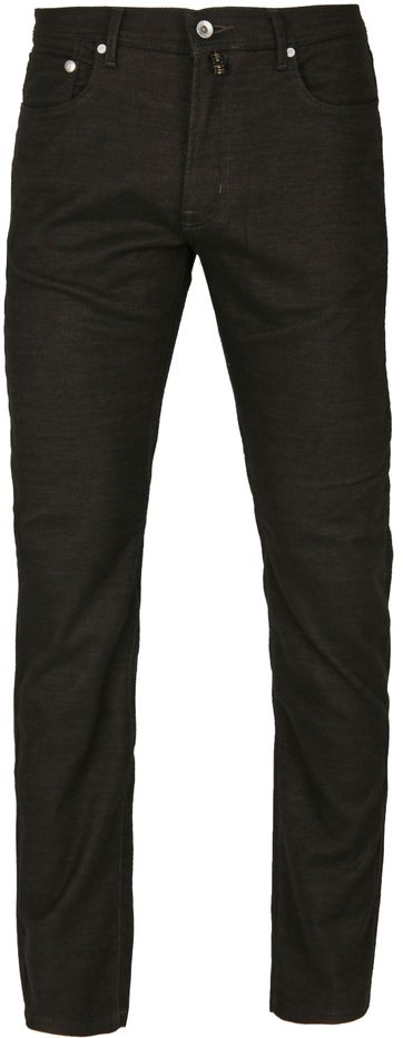 Pierre Cardin Lyon Pants Birdseye Darkbrown
