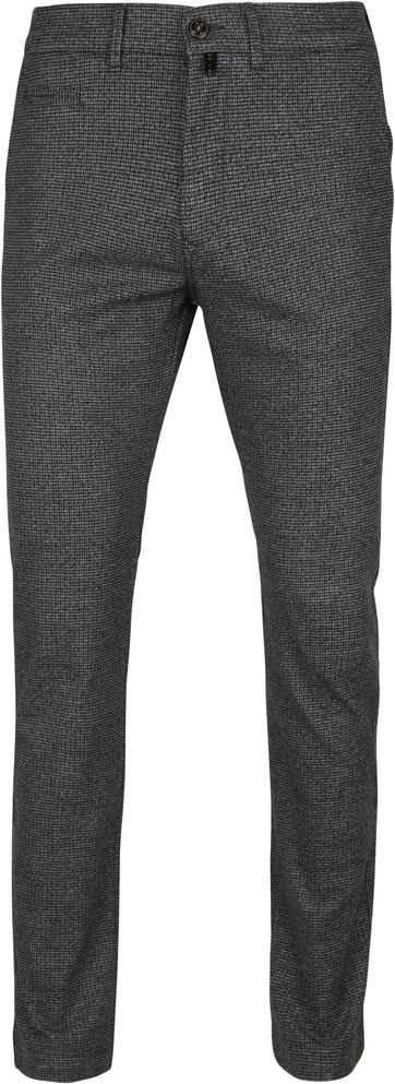 Pierre Cardin Voyage Pants Check Dark Grey