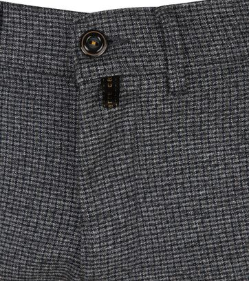 Pierre Cardin Voyage Pants Check Dark Grey