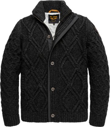 PME Legend Cardigan Knitted Dark Grey