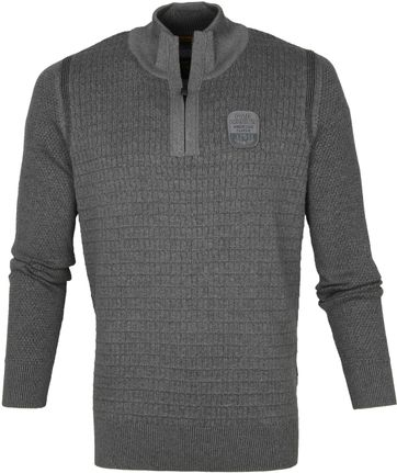 PME Legend Half Zip Sweater Grey