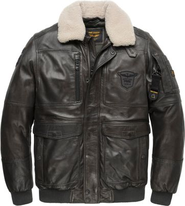PME Legend Leer Boston Badges 2.0 Bomber