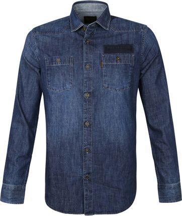 PME Legend LS Overhemd Denim Blauw