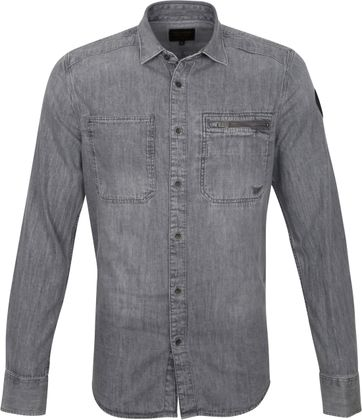 PME Legend Overhemd Denim Grijs