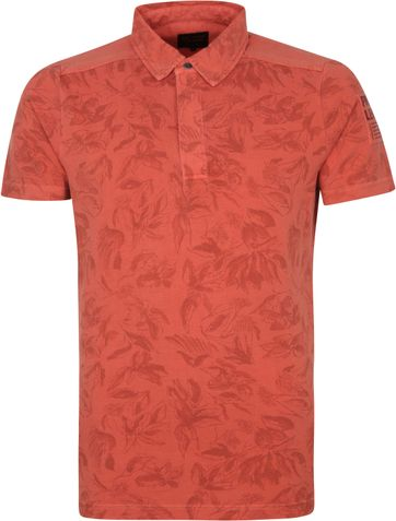 PME Legend Polo Shirt Flowers Red
