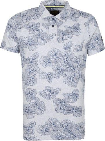 PME Legend Polo Shirt Jersey Flowers Grey