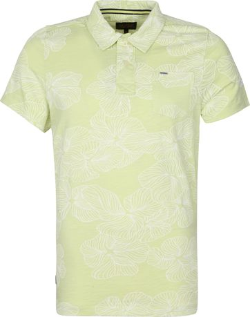 PME Legend Polo Shirt Jersey Flowers Lime Green