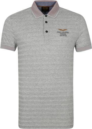 PME Legend Poloshirt Streifen Grau