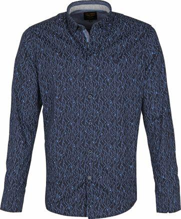 PME Legend Poplin Overhemd Donkerblauw
