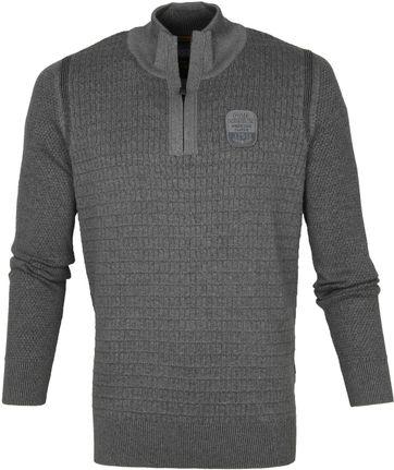 PME Legend Reißverschluss Sweater Grau