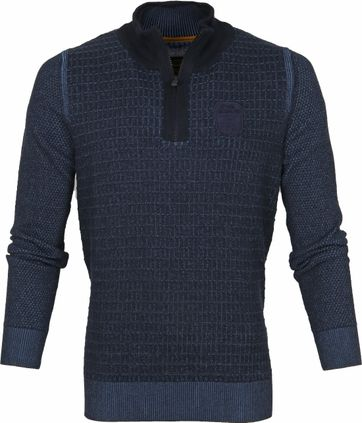 PME Legend Reißverschluss Sweater Navy