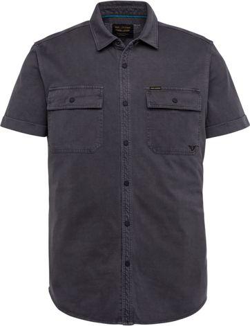PME Legend SS Overhemd Garment Dye Antraciet