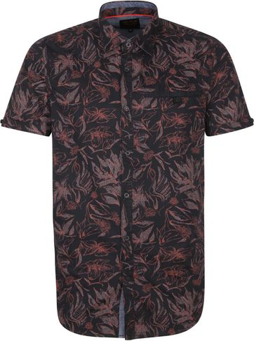 PME Legend SS Shirt Flowers Brown