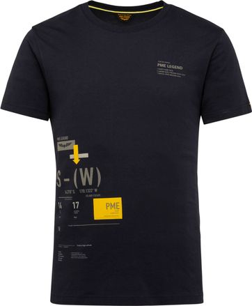 PME Legend T-Shirt 214552 Jersey Donkerblauw