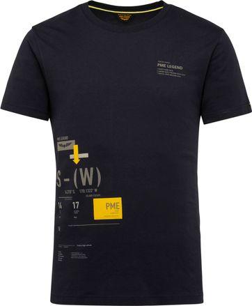 PME Legend T-Shirt 214552 Jersey Dunkelblau