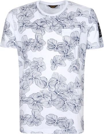 PME Legend T Shirt Flowers White