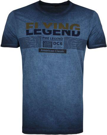 PME Legend T-Shirt Print Donkerblauw