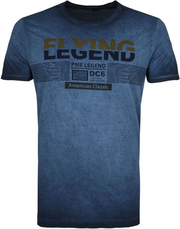 PME Legend T-Shirt Print Dunkelblau