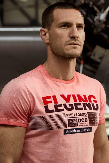 PME Legend T-Shirt Print Rood