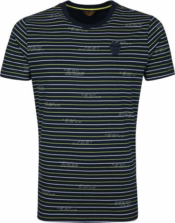 PME Legend T-Shirt Stripes Dark Blue