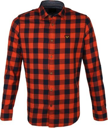 PME Legend Twill Check Hemd Ruit Rood