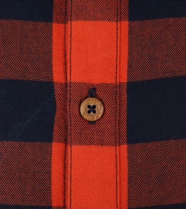 PME Legend Twill Check Overhemd Ruit Rood
