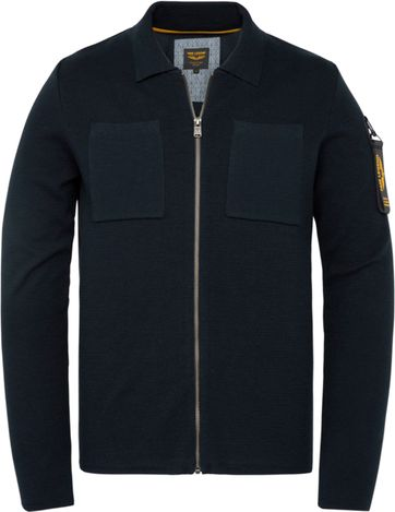 PME Legend Zip Cardigan Dark Blue