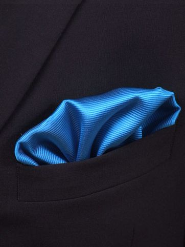 Pocket Square Ocean Blue F32