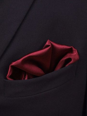Pocket Square Silk Bordeaux F31