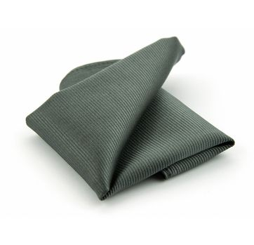 Pocket Square Silk Dark Grey F53