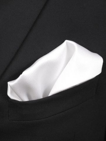 Pocket Square Silk White F27